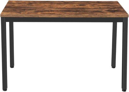 MIRA Home - Tafel - Bureau - Kantoor - Vintage - Bruin/Zwart - 120 x 76 x 60
