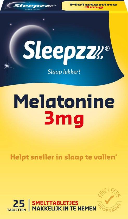 Sleepzz Melatonine 3 mg Forte Smelt Slaaptabletten - 25 Smelttabletten