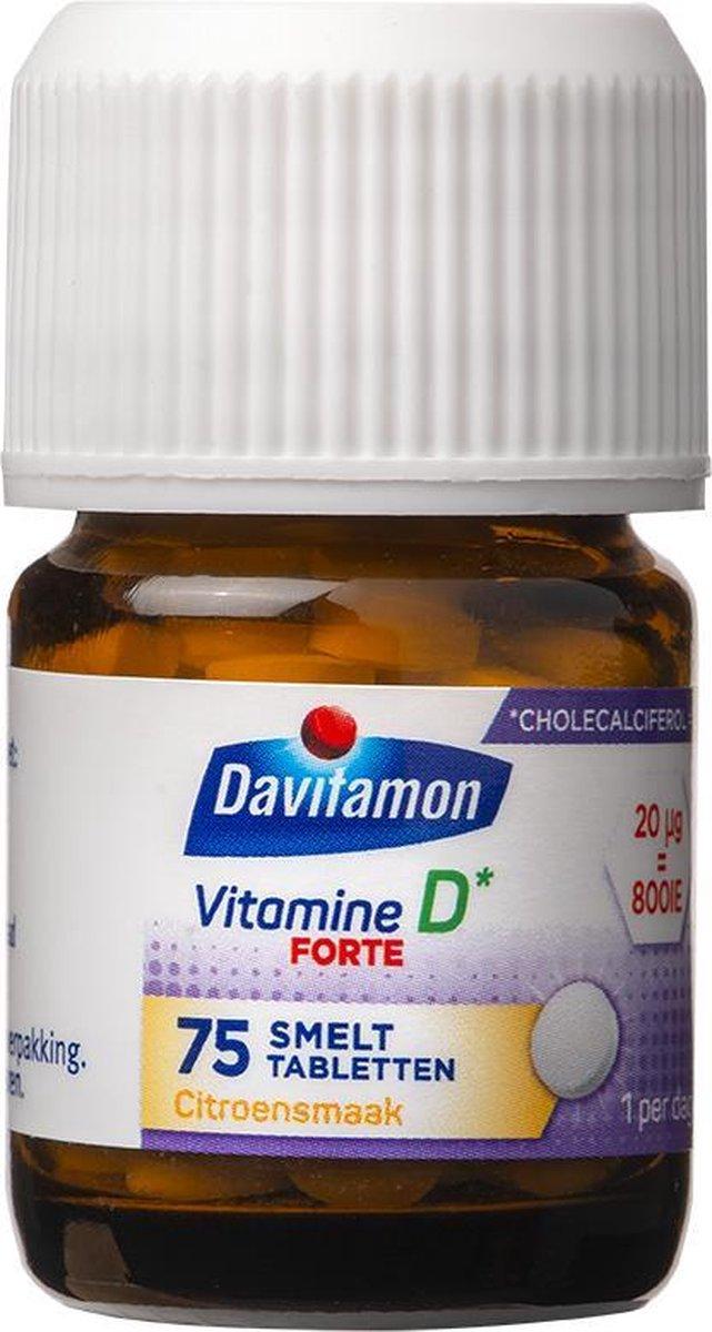 Davitamon Vitamine D3 Forte - vitamine D3 volwassenen - Smelttablet 75 stuks