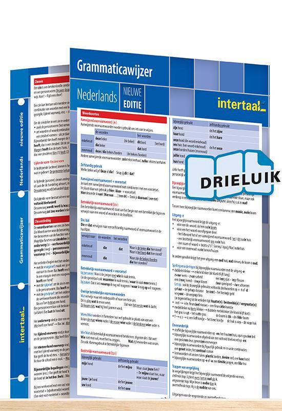Grammaticawijzer Nederlands - nieuwe editie uitklapkaart - Intertaal |