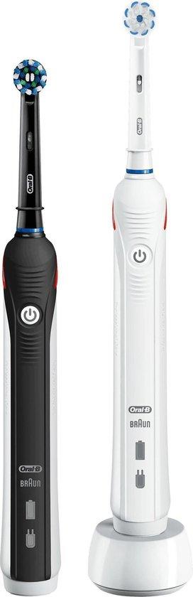 Oral-B PRO 2 2900 - Elektrische Tandenborstel - Duopack Zwart en Wit - 2 Handvaten en 2 Opzetborstels - Oral B