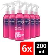 Andrélon Pink Pretty Perfect Heat Protect Spray - 6 x 200 ml - Voordeelverpakking