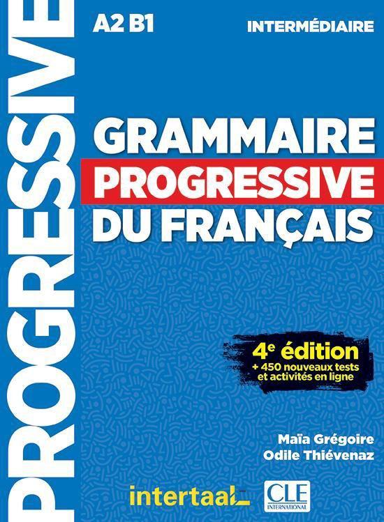 Boek cover Grammaire progressive du français- niveau intermédiaire livre + CD audio + appli van Grégroire e.a. (Paperback)