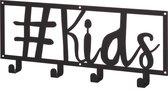 Kinderkapstok #kids zwart