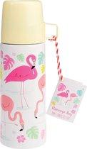Rex London Thermosfles met Beker Flamingo Bay RVS - 350ml