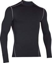 Under Armour CG Armour Mock Heren Sportshirt - Zwart - Maat XL