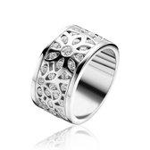 ZINZI zilveren ring wit ZIR1084