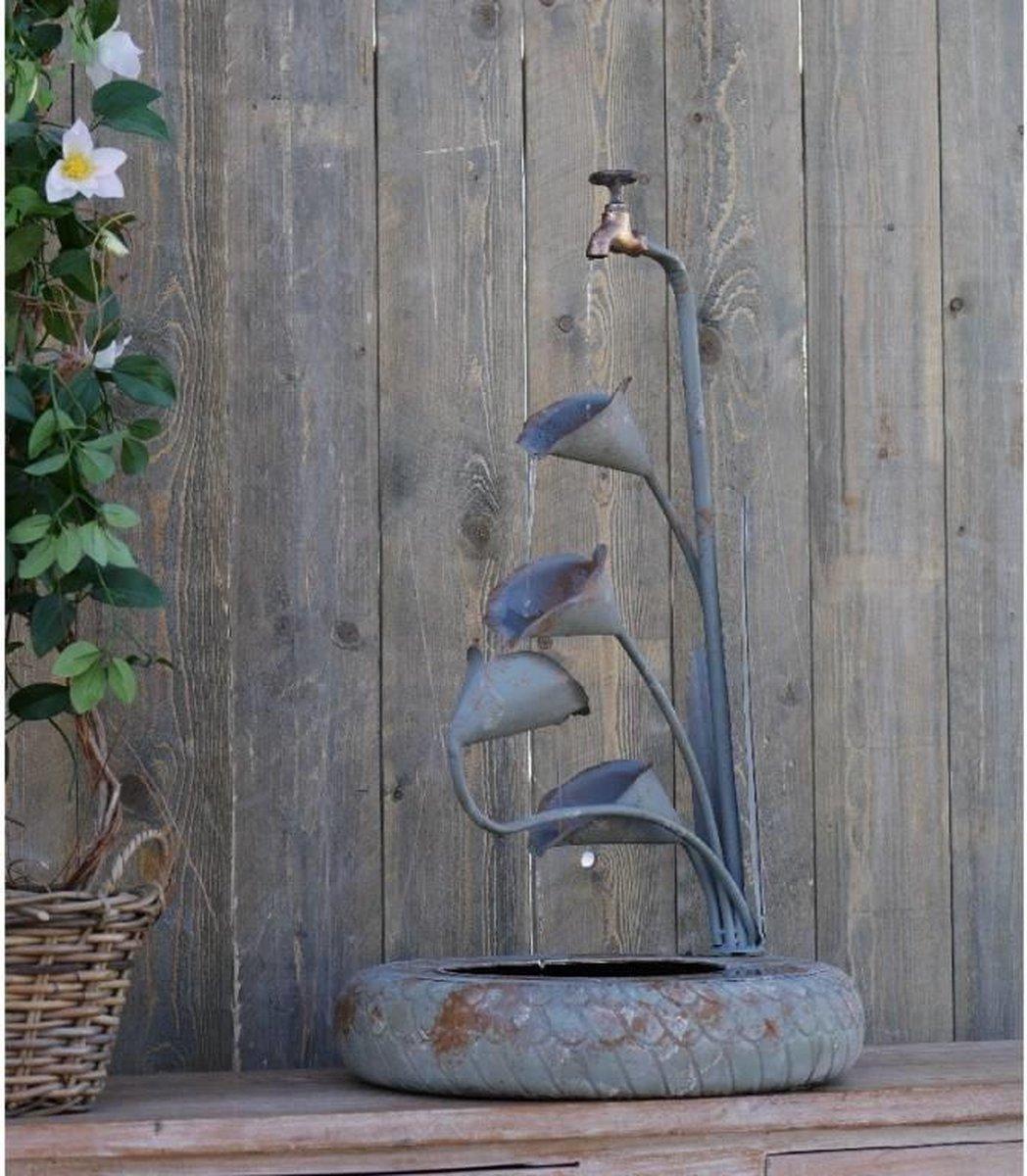 Fontein - Waterornament bloemen - 81 cm hoog