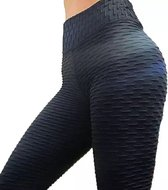 LOUZIR Sportlegging-Yoga -Scrunch Butt-High Waist- Absorberend- Anti Cellulite Legging-Gym Sports -Legging Fitness Wear-Zwart- maat M