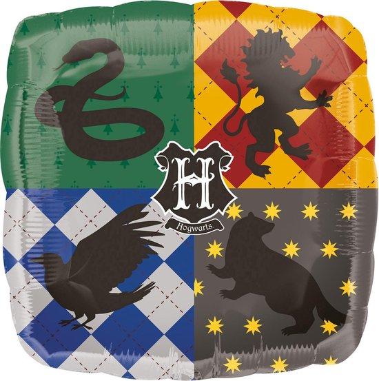 AMSCAN - Aluminium Harry Potter Zweinstein huizen ballon - Decoratie > Ballonnen