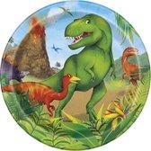 UNIQUE - 8 kleine kartonnen dinosaurus borden - Decoratie > Borden