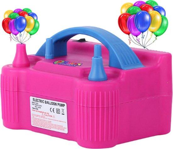9ineParty - Originele Draagbare Elektrische Ballonenpomp - Dubbele Vultuiten - Roze 220 V - 600 W - Compacte Elektrische Ballon Pomp - Voor Decoratie - Feest - Party - Verjaardag - Versiering - Trouwerij