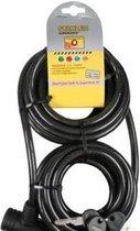 Stahlex Staalkabel Extra Lang 8 meter x 10mm | Geplastificeerd Spiraalvormig Kabelslot | Goed voor bv Horeca