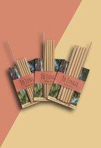 To Jungle Bamboe rietjes  Herbruikbaar, 15cm lang, brede opening.