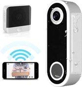 Paauwer Slimme Video Deurbel met Gong en Oplaadbare Lithium Batterij – Deurbel met Camera Draadloos – Intercom en Bewegingssensor – Smart Video Deurbel inclusief Chime – Deurtelefoon – Deurbelsets