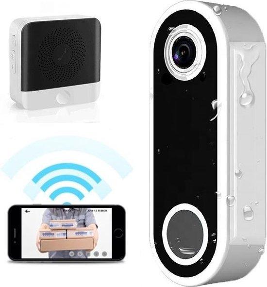 Paauwer M6 Video Deurbel met Gong en Oplaadbare Lithium Batterij – Deurbel met Camera Draadloos – Intercom en Bewegingssensor – Smart Video Deurbel inclusief Chime – Deurtelefoon – Slimme Deurbel – Deurbelsets