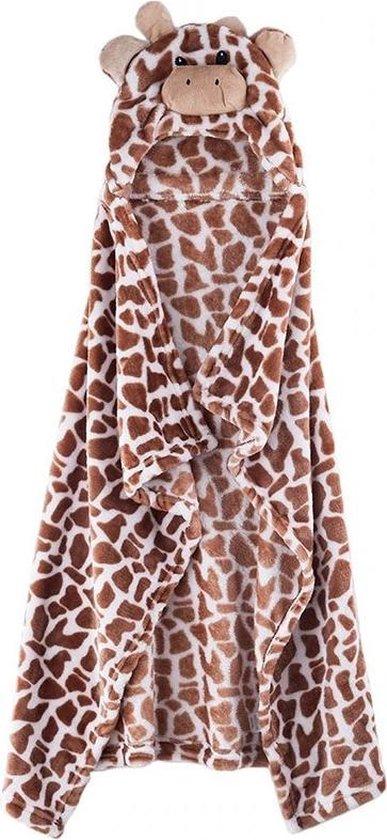 Baby badjas / handdoek - Giraffe - Kraamcadeau - Teddystof