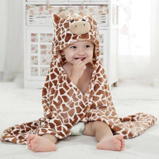 Product: Baby badjas / handdoek - Giraffe - Kraamcadeau - Teddystof, van het merk Merkloos