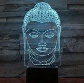 Nachtlamp Boeddha. Boeddha beeld lamp. Mooie sfeerlamp/ mood lamp. Illusie lamp 7 kleuren