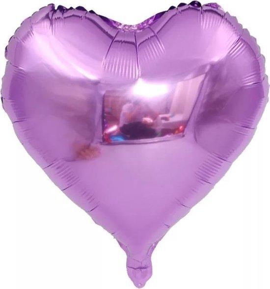 Folieballon hart | Violet | 18 inch | 45 cm | DM-products