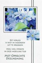 Condoleance wenskaarten kleur 10 stuks assortiment - Deelnemingskaarten - Rouwkaarten