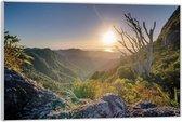 Plexiglas –Bergen aan Zee met de Zon– 60x40 (Wanddecoratie op Plexiglas)