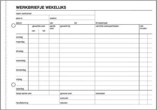 Sigel Expres Bedrijfsformulieren Werkbriefje, A5, 50 vel (krimp 5 stuks)