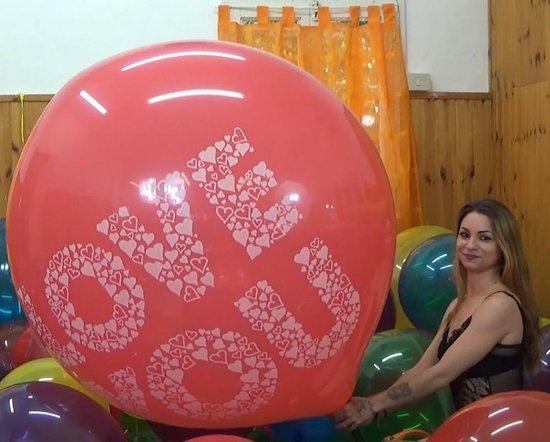 2 Cattex reuze ballonnen - Love You Print - Rood - 36 inch - 90 cm - grote ballonnen