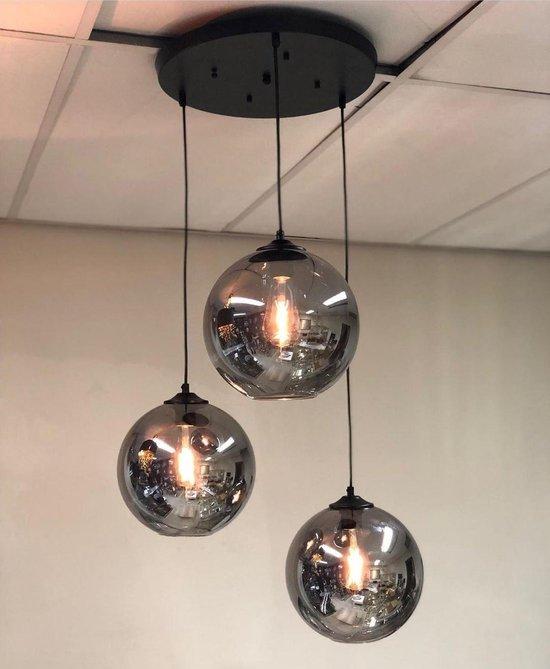 Smoke hanglamp met 3 bollen - Bollamp - homestar