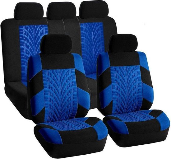 Stoelhoes Auto / Auto Stoelhoes /Autostoelhoes/Universele Autostoelhoezen Set | 9 Delig | Universeel | Geschikt voor de meeste modellen | Zwart/Blauw