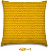 Buitenkussen - Sierkussen - zomerse golven - kleur Geel 40x40cm