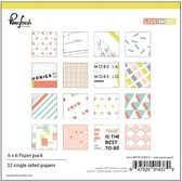 Pinkfresh: Live More Paper pack single sided papers 6x6inch (PFRC200217)
