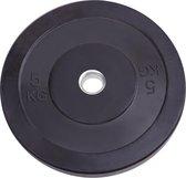 Bumper plate 5 KG - Zwart - Rubber 50mm - RS Sports