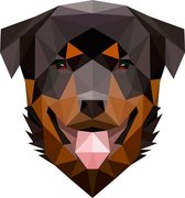 Rock that Wall muursticker Rotweiller hond  uit de Diamond Pets Collectie