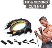 PRO VARIANT - Fitness elastiek set - Fitness elastiek met handvat - Weerstandsbanden fitness set