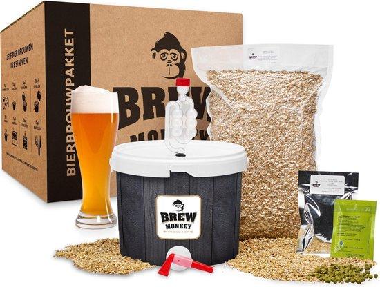 Brew Monkey Bierbrouwpakket - Basis Weizen bier - Zelf bier brouwen - Bier brouwen startpakket  - origineel cadeau