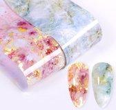 Luxe marmeren roze nagel folie van Colournails® - Nail art - Nagel decoratie - Transferfolie