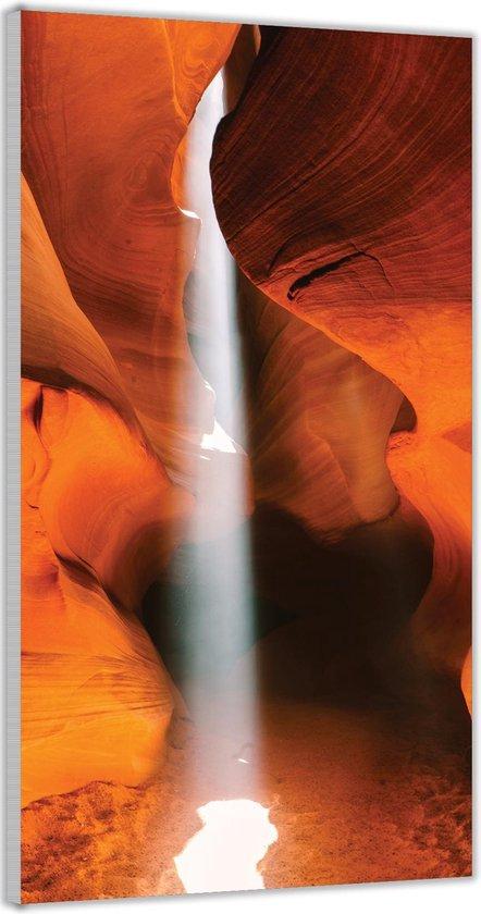 Plexiglas –Woestijngrot met Zonlicht– 100x200cm Foto op Glas (Wanddecoratie op Plexiglas)