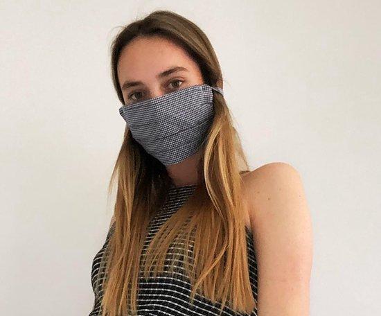 Kit om zelf geplooide mondmaskers / mondkapjes te maken - 5 stuks - DIY pakket