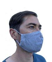 Mondmasker 100% Katoen – Wasbaar – Mondkapjes – Mondkapje – Niet Medisch - Grijs
