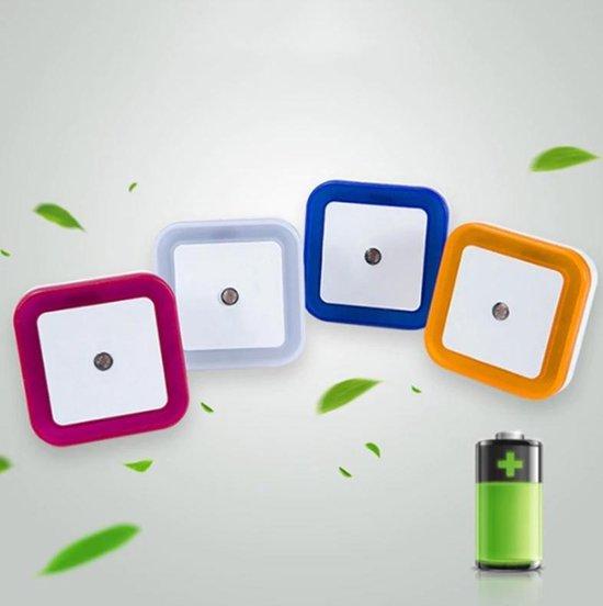 Smart sensor LED kinderlampje | Kinderlamp | Nachtlamp | Babykamer | Stopcontact | WIT | BLAUW | ROOS | ORANJE | Nachtlampje stopcontact | Volwassenen nachtlamp | Babykamer | Kinderkamer | Sensor nachtlamp | LED