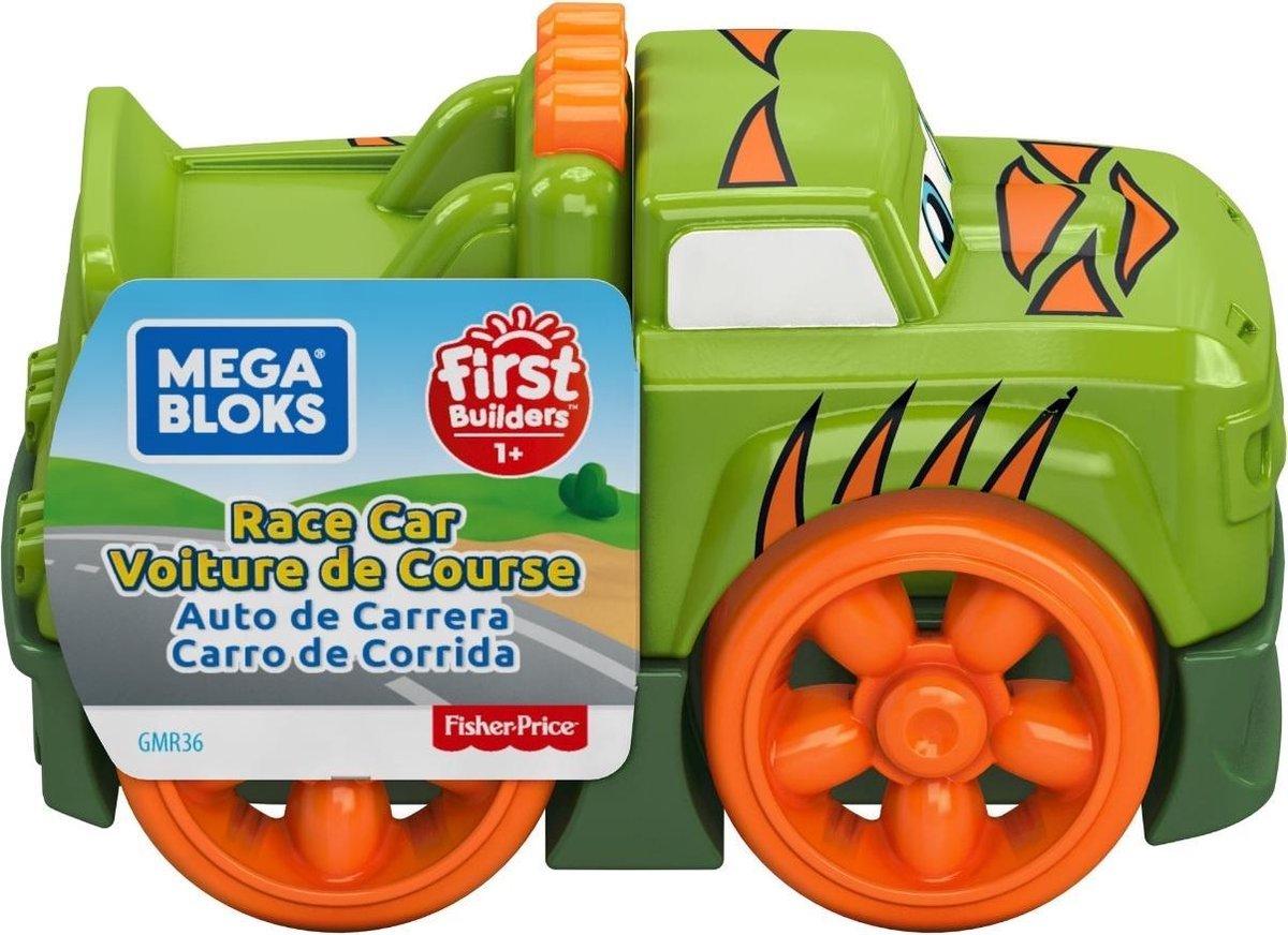 Fisher Price monstertruck Mega Bloks jongens 10 cm groen/oranje