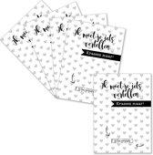 Kraskaarten set (5 stuks) | Ik ben zwanger! | MamaKaart.nl