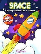 Space Coloring Book For Kids And Toddlers