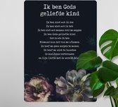 Interieurbord A4 'Gods geliefde kind' - christelijk - cadeau