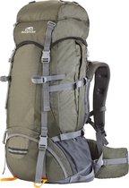 Dutch Mountains - Backpack Maas 55 +10liter - Rugtas Outdoor - Rugventilatie + regenhoes - Lichtgewicht Groen