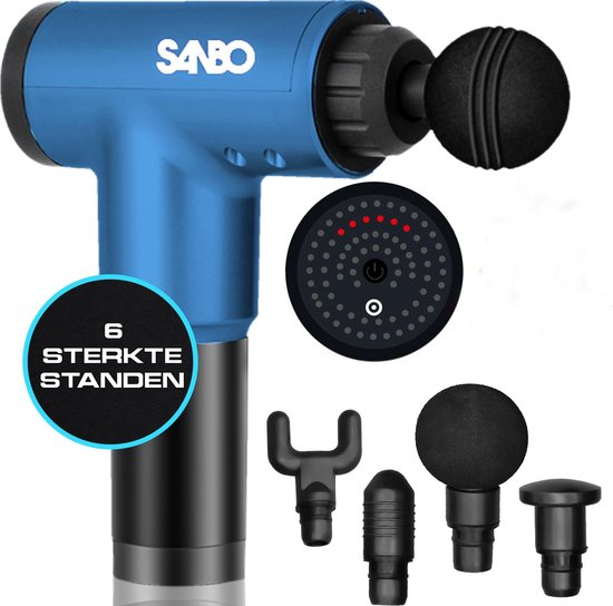 Sanbo - Massage Gun - Klop en Vibratie Massage - Blauw