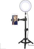 Picca 6 inch ringlamp set led ringlicht met camera statief