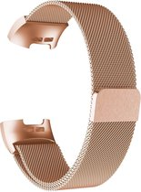 Gymston® Milanees bandje - Fitbit Charge 3 - Fitbit Charge 4 - Rose Goud - Medium