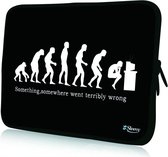 Sleevy 15,6 inch laptophoes grappige evolutie - laptop sleeve